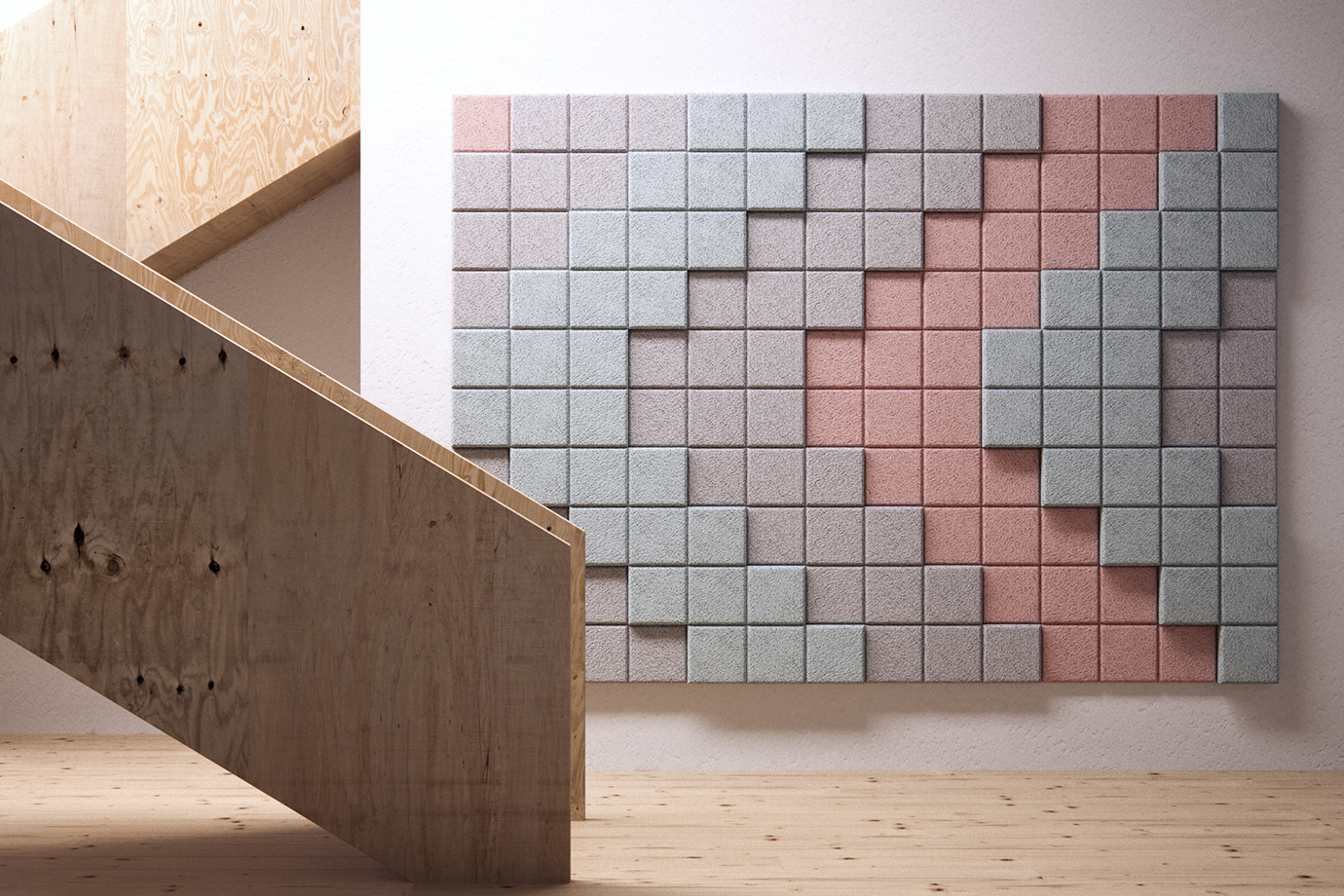 3D Pixel - Stairs Sign